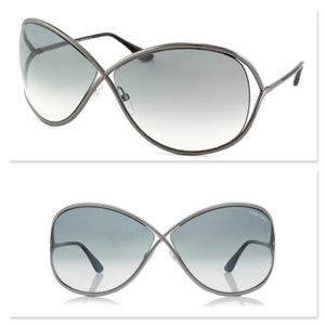 New TOM FORD Gradient White Butterfly Sunglasses